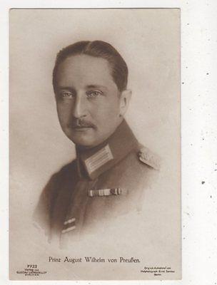Prinz August Wilhelm Von Preussen 1917 RP Postcard Germany Royalty 044b