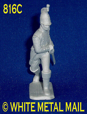 Military Lead Casting 816C 1:32 Scale Napoleonic French Dragoon Drawing Sword