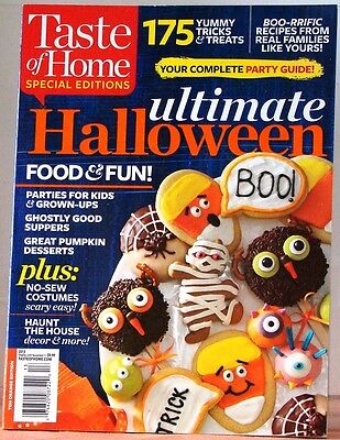 Taste of Home ULTIMATE HALLOWEEN Magazine SPECIAL ED Food & Fun +No-Sew COSTUMES (No Sew Halloween Costume)