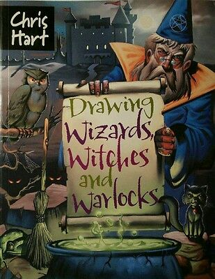 HOW TO DRAW WITCHES, WIZARDS & WARLOCKS COMIC STYLE-A GREAT BOOK FOR HALLOWEEN!