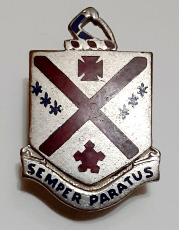 Vintage Semper Paratus Screwback Pin