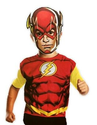 The Flash Birthday Party Dress-Up Costume Set Boys Child Paper Mask Tunic Small