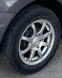 """Fast Mags + BRAND NEW summer tires 195/65 R15 used on Civic 15"""""""