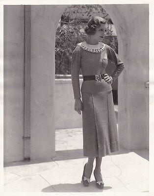 SHANNON DAY Beautiful Starlet Original Vintage 1930s Warner Bros. Portrait Photo