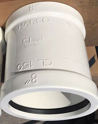 """Harco 8"""" PVC Gasketed Joint Line Coupling For C-900 Pipe DR18 ASTM D3139/New for sale  Dayton"""