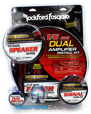 Rfk1d Rockford Fosgate 0 Gauge Amp Ga Subwoofer Amplifier Wire Installation Kit on Sale