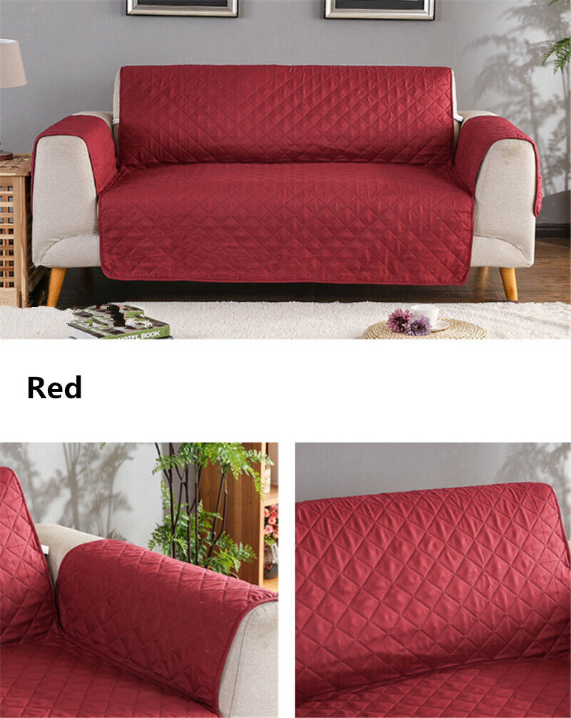 100% Waterproof Loveseat Cover for Leather Couch Quilted Fur