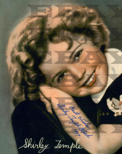 Shirley Temple Autographed Signed 8x10 Photo Reprint