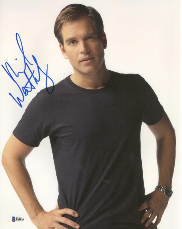 MICHAEL WEATHERLY SIGNED 11X14 PHOTO NCIS AUTHENTIC AUTOGRAPH BECKETT COA G