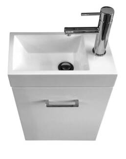 New Katerina 400 Wall Hung Vanity Cabinet Chrome Mixer Package
