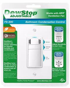 Protect Against Moisture/Mold with a Bathroom Condensation Control ( Dewstop Humidity Sensor )