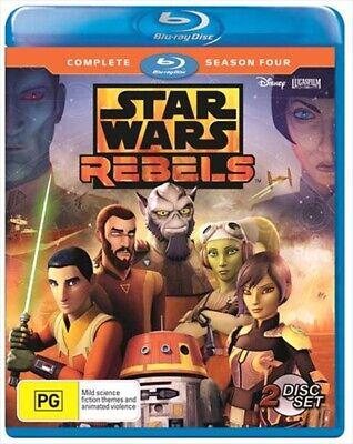 Star Wars Rebels : Season 4 (Blu-ray, 2-Disc Set) NEW