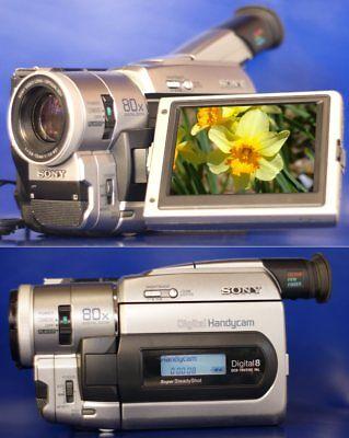 Sony DCR-TRV510E PAL Digital 8 /Hi8, Video8 Camcorder Handycam +Gewährleistung 8 Cam