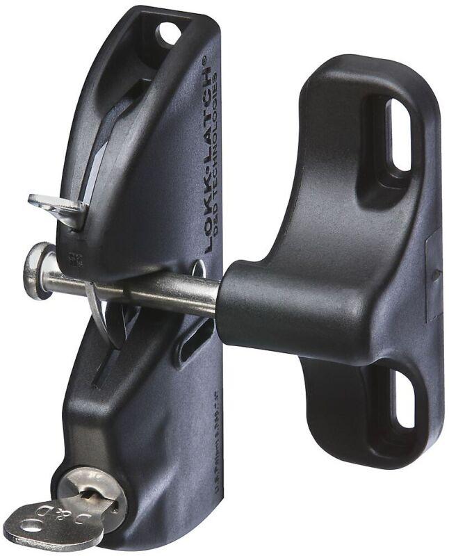 "National Hardware N346-201 Lockable Gate Latch, 4-9/16"", Black"