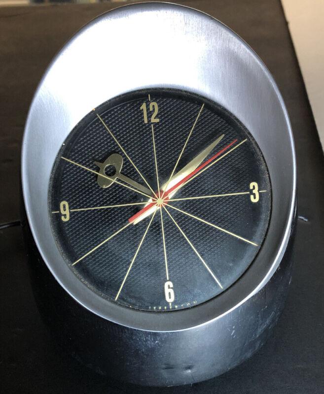 Vintage Jefferson 500 Mid Century Modern Space Age Bullet Retro Electric Clock