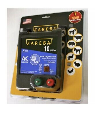 Zareba Electric Fence Charger 115v 10-mile Low Impedance Fuseless Digital Timing