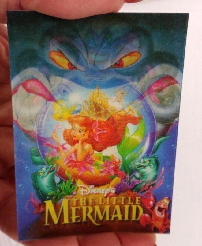 DISNEY STORE LITTLE MERMAID FILM RELEASE 12 LENTICULAR FLASHER TRADING CARD 1997