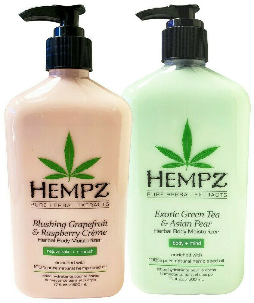 Exotic, Natural Herbal Body Moisturizer with Pure Hemp Seed