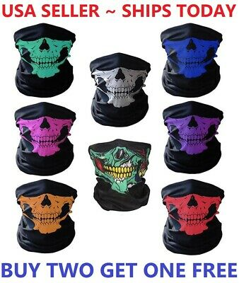 Cool Masquerade Masks (Balaclava Mask Skull Face Biker Dust Weather Motorcycle Neck Winter Sport)