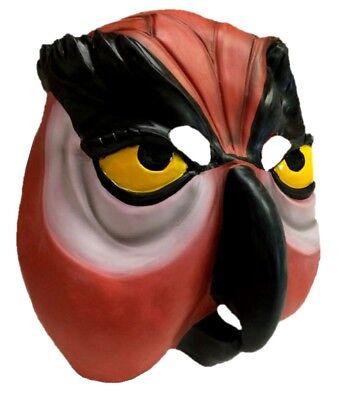 Morbid Owl Latex Mask Adult Rusty Orange Bird Halloween Costume - Morbid Halloween Masks