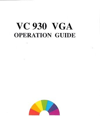 Guide VC 930 VGA Graphic Card/Adapter