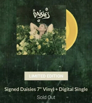 """Katy Perry 7"""" SIGNED Daisies Limited Edition Vinyl SOLD OUT Rare Autographed"""