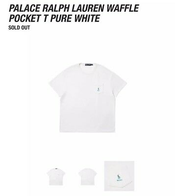 PALACE SKATEBOARDS POLO RALPH LAUREN WAFFLE POCKET TEE SHIRT L WHITE TRI FERG