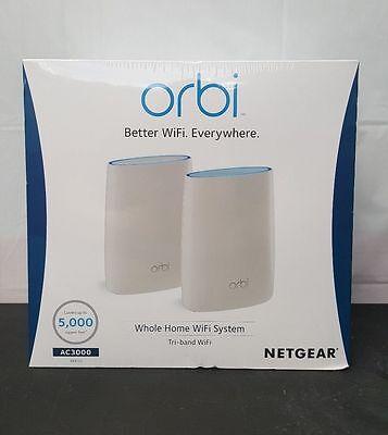 Orbi Home WiFi System AC3000 Tri-Band WiFi RBK50 NETGEAR BRAND NEW SEALED 6359