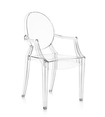 4 Sedie KARTELL - LOUIS GHOST COL. CRISTALLO Design by Philippe Starck