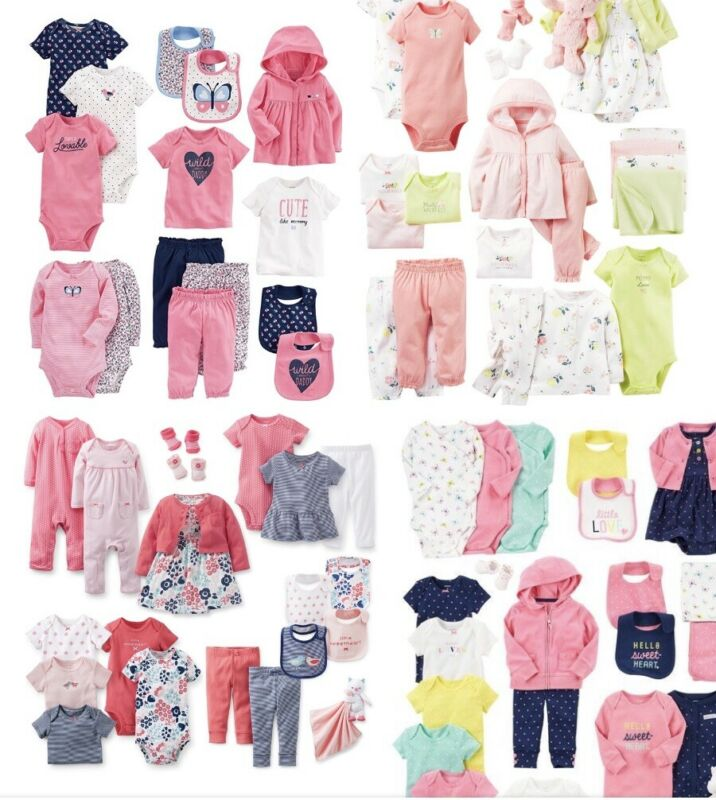 Lot Baby Girl Clothes Newborn+0-3 Months 50 Pieces Clothing & Accessories