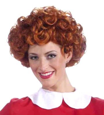 Little Orphan Annie Adult Women Wig Licenced Costume Accessory Red Curls - Annie Wig