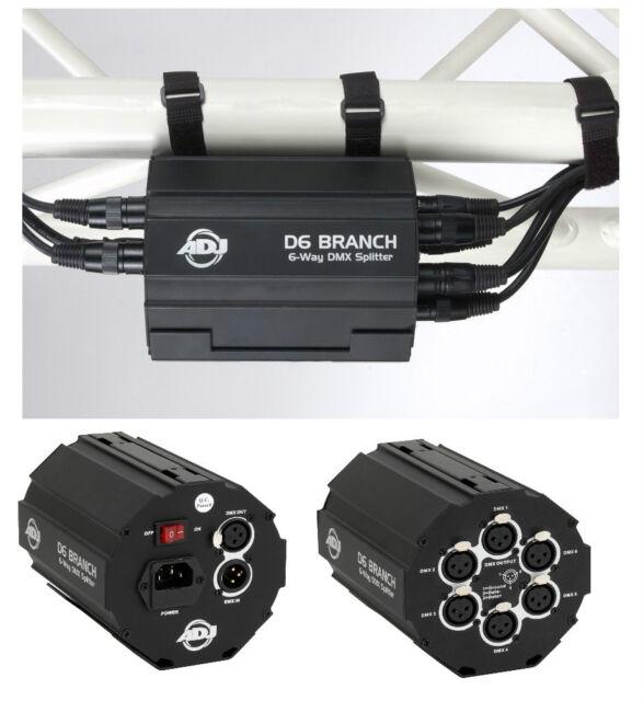 ADJ D-6 Branch  6 Wege DMX Splitter DMX Booster aktiv Splitter DMX Verteiler