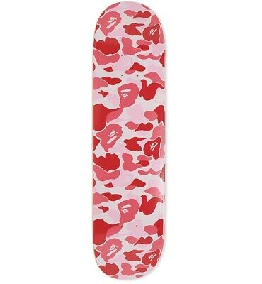 A BATHING APE ABC CAMO SKATEBOARD DECK Pink Rare New