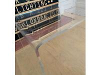John Lewis clear perspex plastic modern coffee living room table