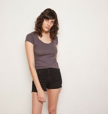THE ODELLS TWIST NECK TEE in FADED BLACK SIZE SMALL $72 - Twist Neck Tee