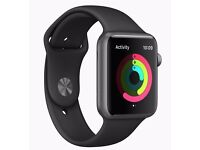 42mm Apple Watch Series 1 Space Grey + Black Sports Band - Perfect Condition