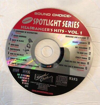 Sound Choice Spotlight karaoke cdg SC8252 - Headbanger's Hits, volume (Sound Choice Spotlight)
