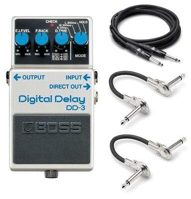 New Boss DD-3 Digital Delay Guitar Pedal! FREE Hosa Cables! Boss Dd3 Digital Delay Pedal