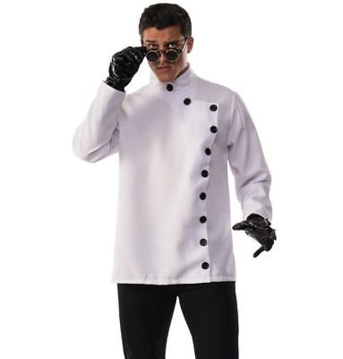 Evil Scientist Halloween Costume Psycho Mad Doctor White Shirt Adult Mens MD-XL