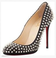 Christian Louboutin authentique fifi spikes 100 nappa 37.5