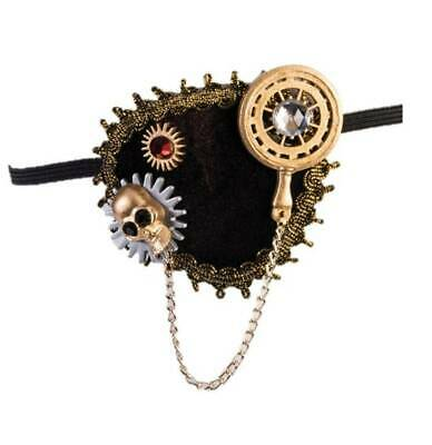 Steampunk Eyepatch Brown Velour Decorative Steampunk/Pirate Themed Costume Accs - Halloween Pirate Theme Decorations