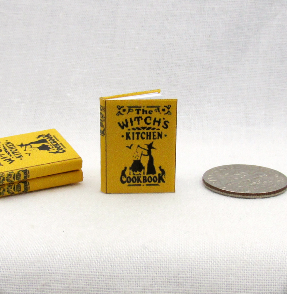 WITCHES KITCHEN COOKBOOK Miniature Book Dollhouse 1:12 Scale