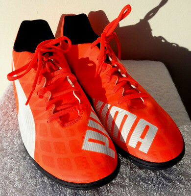 Puma Evospeed 5 Orange White Football Boots indoor astroturf uk 11 46 astrosole