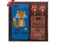 Blue CuteCase Gift Set for iPhone 5 & 5s