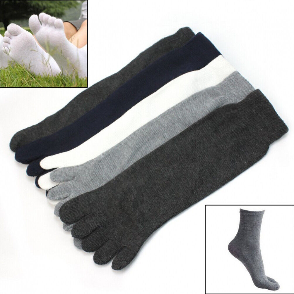 5 Pairs Unisex Casual Socks Cotton Warm Sports Five Fingers