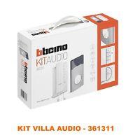 Bticino 361311 Kit Villa Audio Monofamiliare Citofono Classe 100a12m - bticino - ebay.it