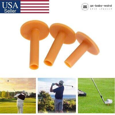 3 Pcs Rubber Golf Tees Holder Tee Range Driving Practice Mat Hitting 60-80mm USA