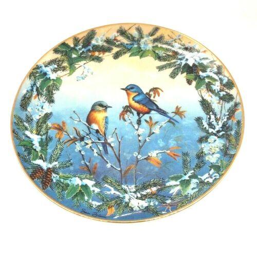 """Crisp Morning Call"" Collector Plate Sam Timm Winter Garlands Bradford Exchange"