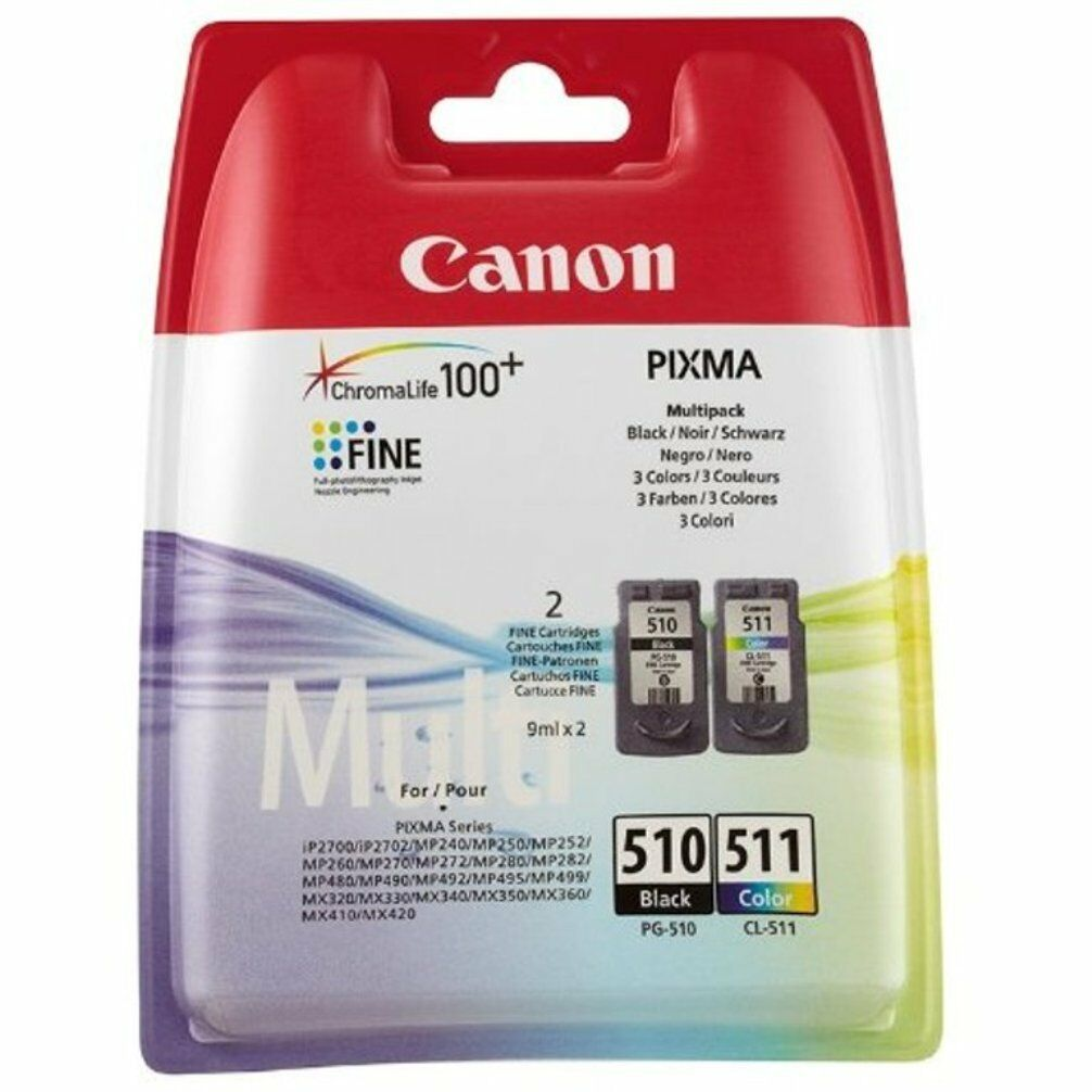 Original Canon PG510 Black CL511 Colour Ink Cartridge For PIXMA MP250 Printer