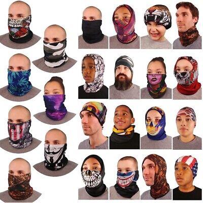 Fleece-Lined Multifunctional Scarf, Face Mask, Neck Warmer, Balaclava|48 Designs